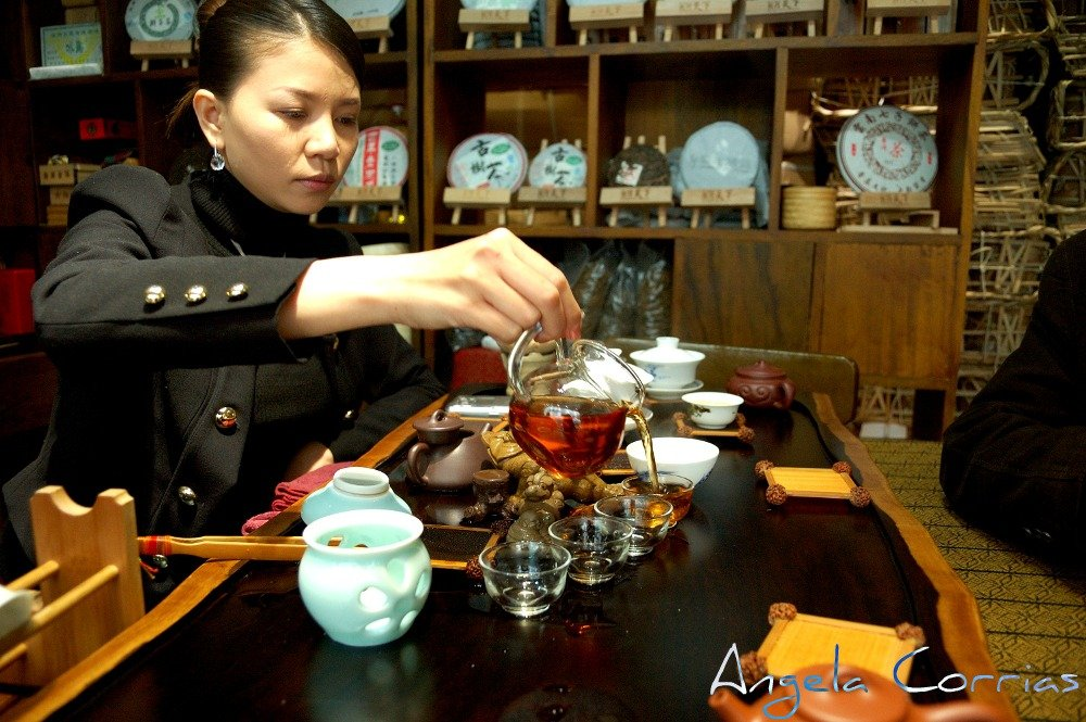 In China, learning the art of drinking tea