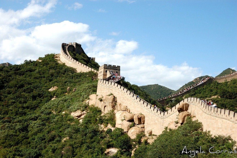 On the Great Wall of China, not the best place for misunderstandings