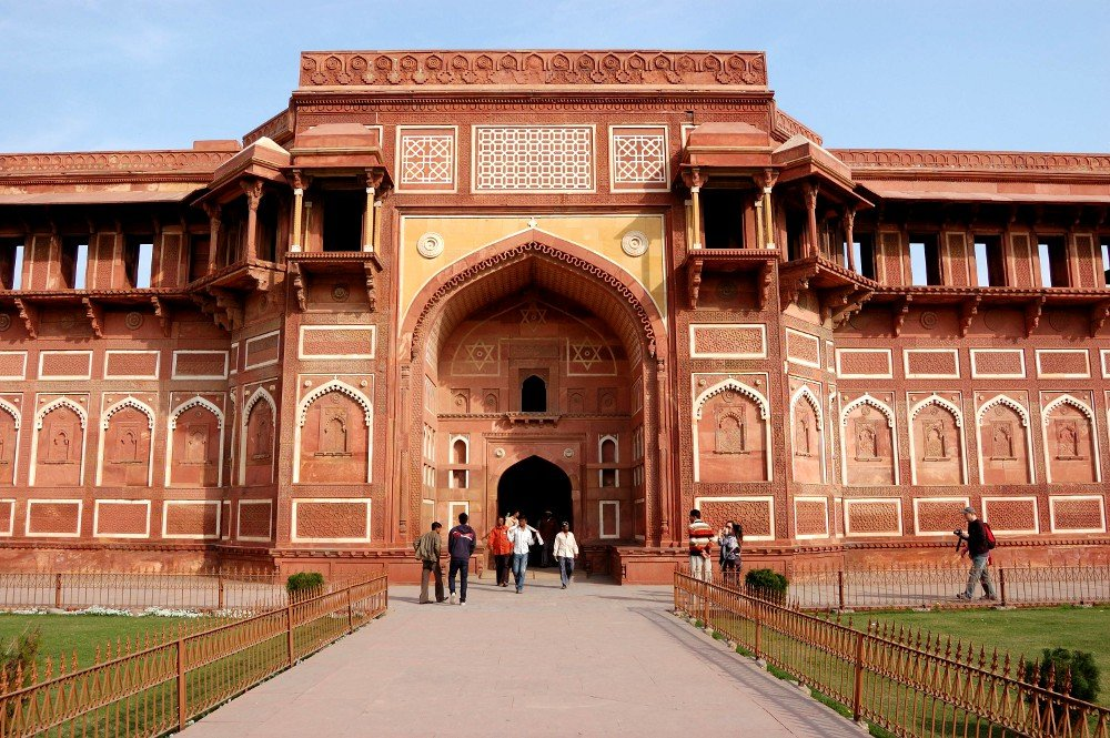 In Agra, ambling about the Red Fort