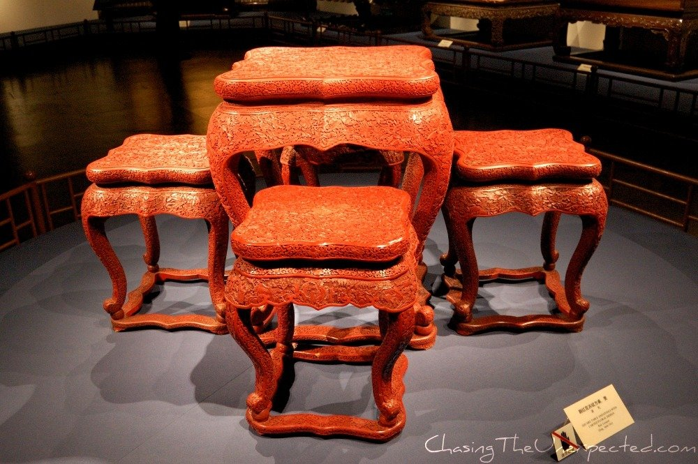Pieces of furniture at Shanghai Museum