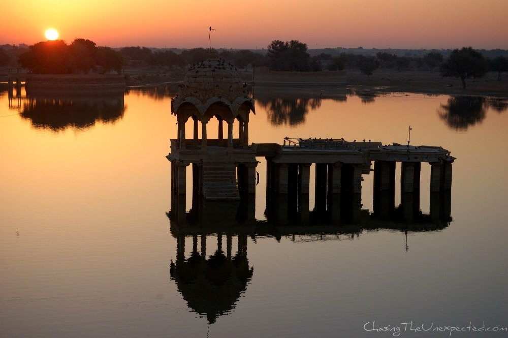 Gadisar lake in Jaisalmer India