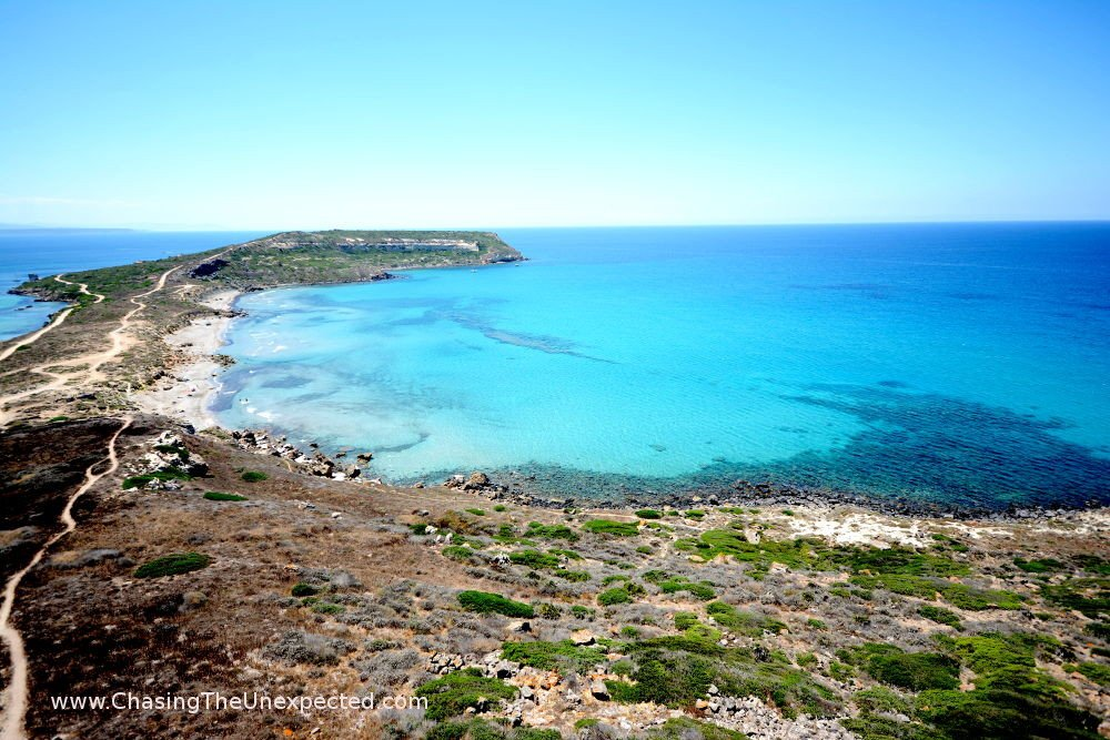 San Giovanni di Sinis peninsula in the western coast, one of the best beaches in Sardinia