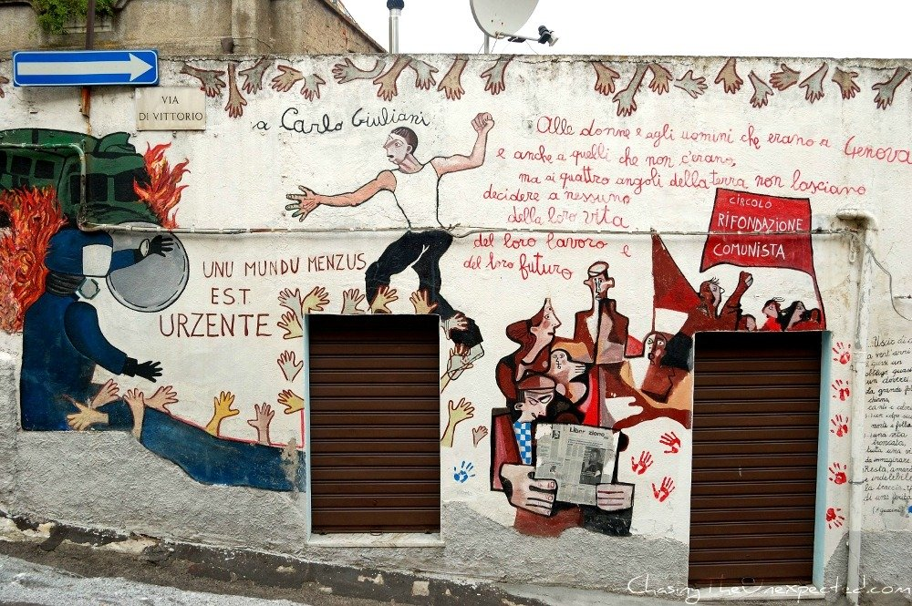 Orgosolo murals tackle sensitive political issues