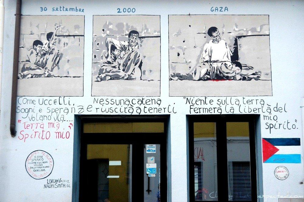 Orgosolo murals for Palestine