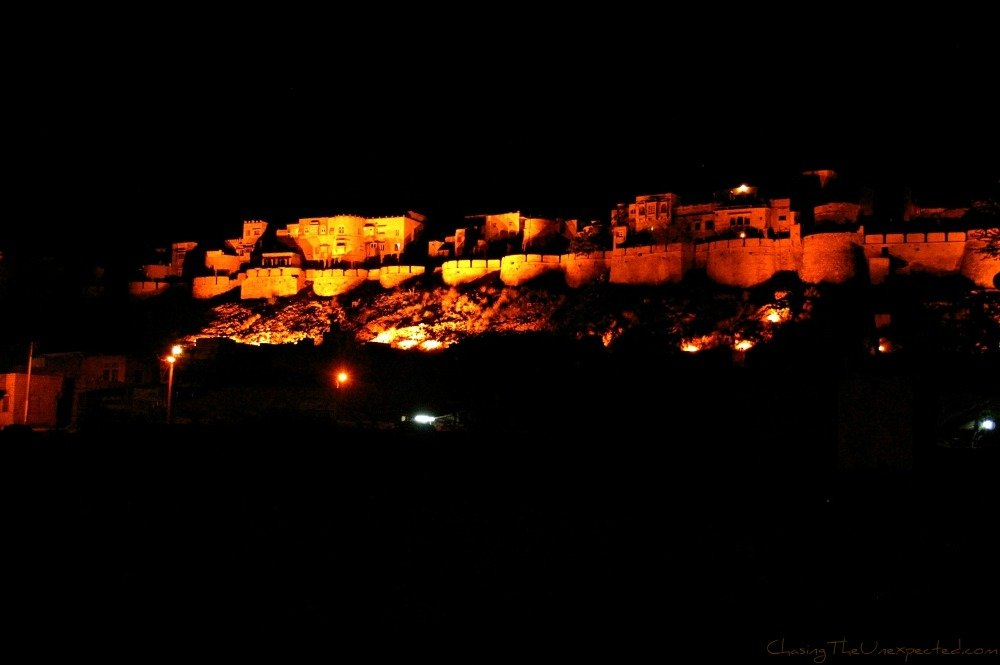 A trip, a photo – Night on Jaisalmer Fort, Rajasthan