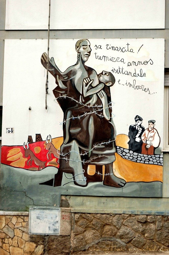 Orgosolo murals against poverty and injustice