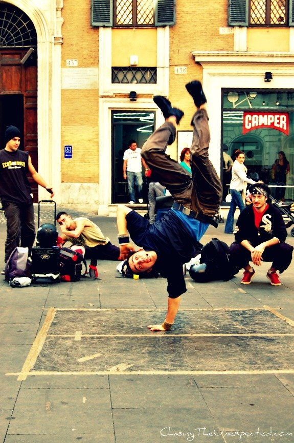 A trip, a photo – In Rome, so you think you can dance?