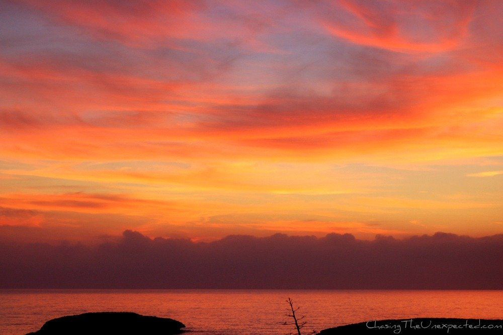 A trip, a photo – Sunset over the Mediterranean Sea
