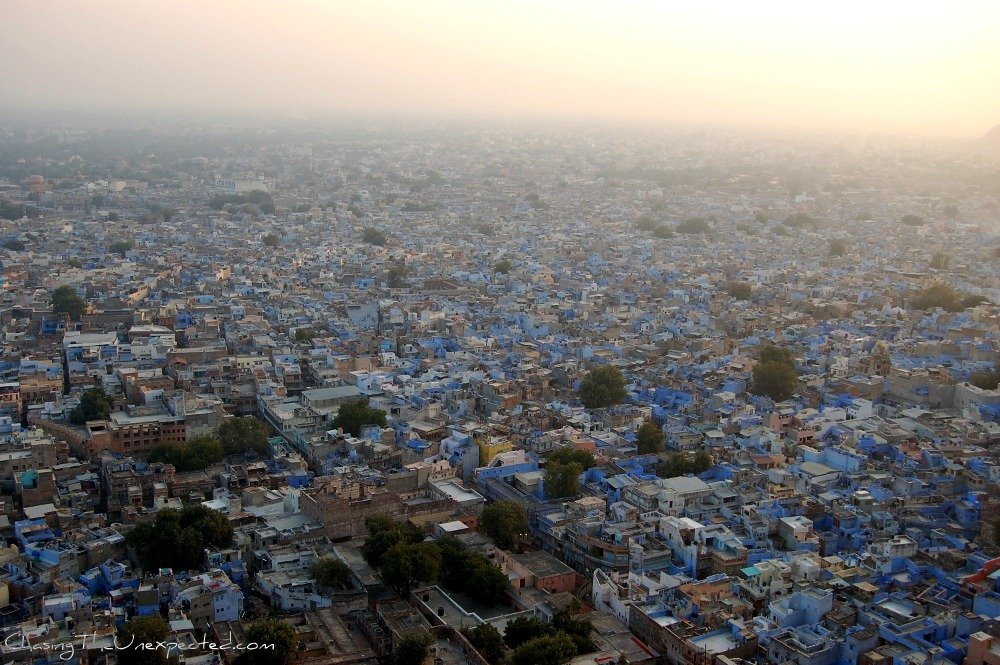 Overlooking Jodhpur the Blue City
