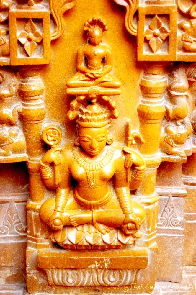 Image: Detail of carving in Jaisalmer temple