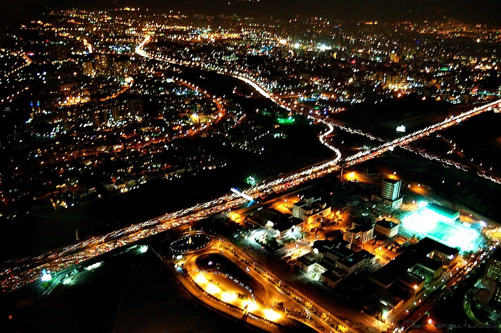 A trip, a photo – Tehran by night from Milad Tower