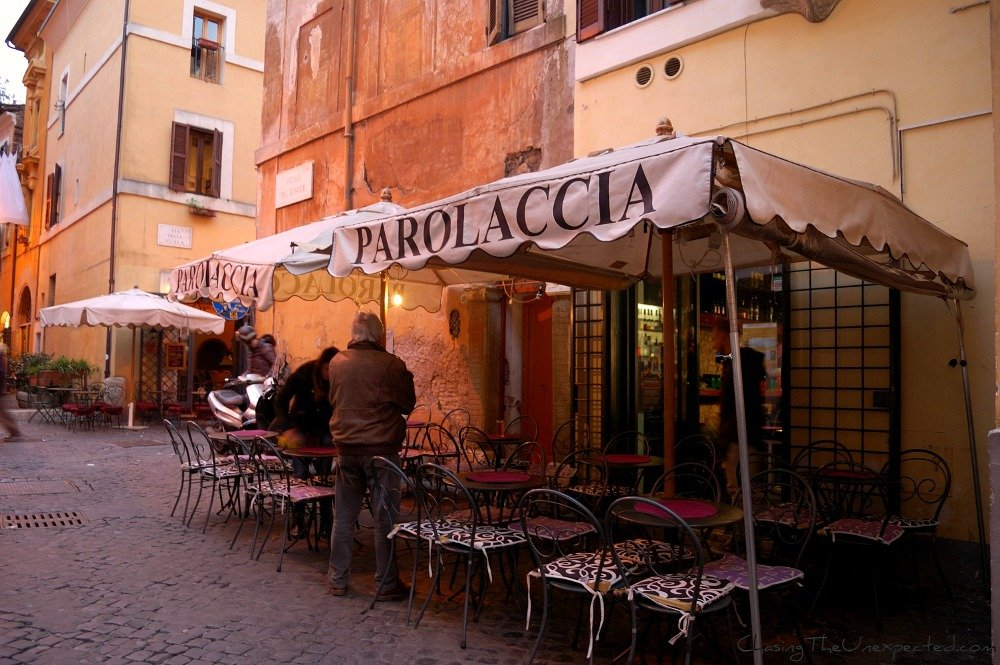 A trip, a photo – Dining in Rome, if you don't mind getting insulted