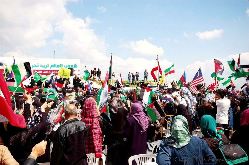 Video and photos: In Lebanon, marching for Palestine