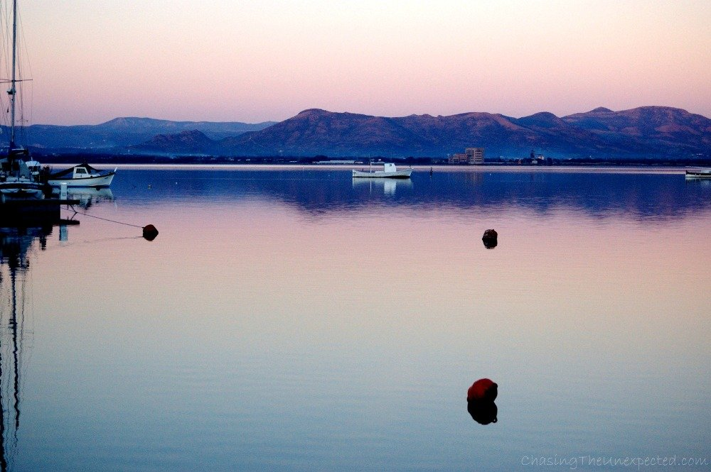 A purple sunset in Sant'Antioco, one of the best things to see in Sardinia