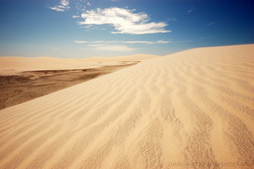Jericoacoara, white dunes and sandy beaches of northeastern Brazil