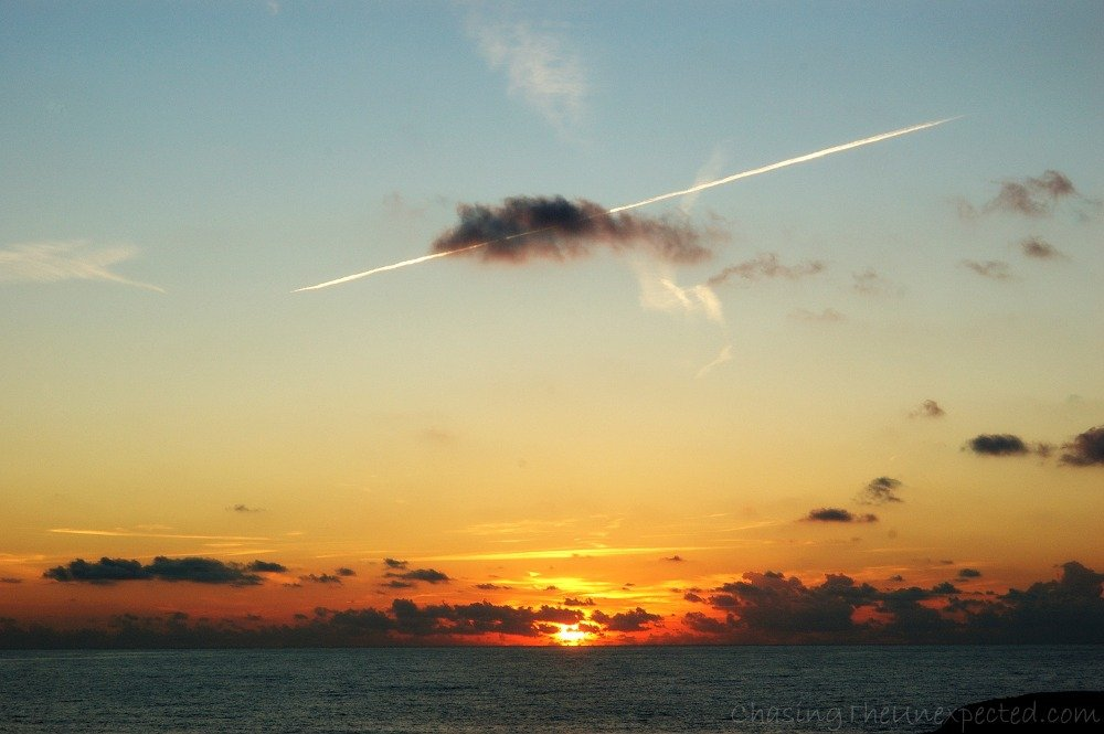 A trip, a photo – Sunset over Sardinia's west coast
