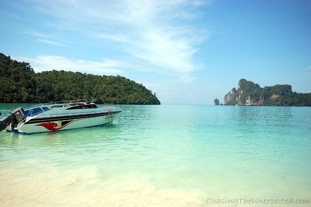 The view from Phi Phi Don beach