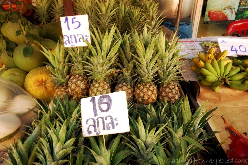 Sweet and delicious pineapples
