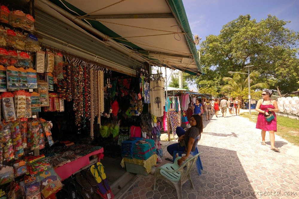One of the shops in Phi Phi Don
