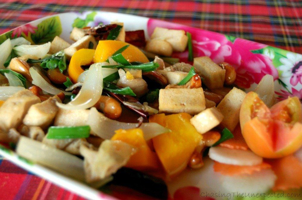 Cooking Thai style at Da's organic farm in Chiang Mai, Thailand