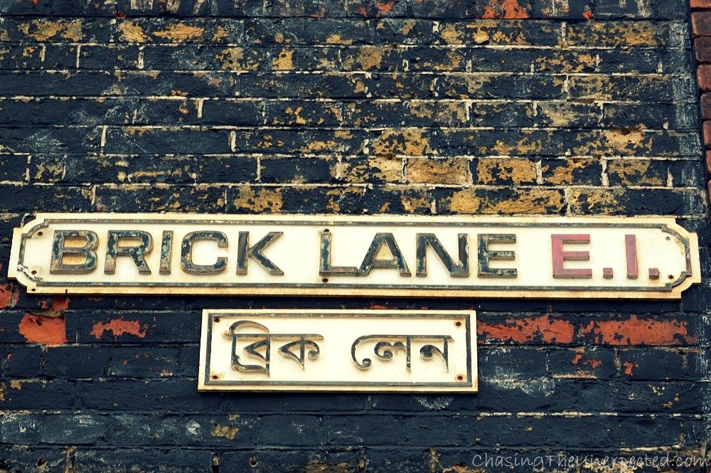 Welcome to Brick Lane, picturesque, quaint and multicultural. Every weekend a lovely market sprawls all around this area, from here to Spitalfields.