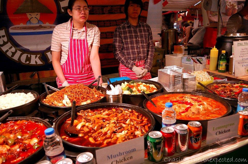 The Chinese stall at Brick Lane Sunday Up Market