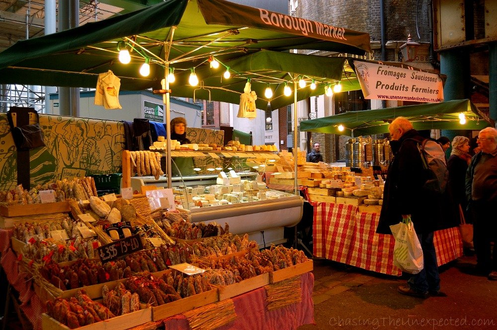 Welcome to Borough Market, delicious and pricey. Here you can find just about everything you are looking for.