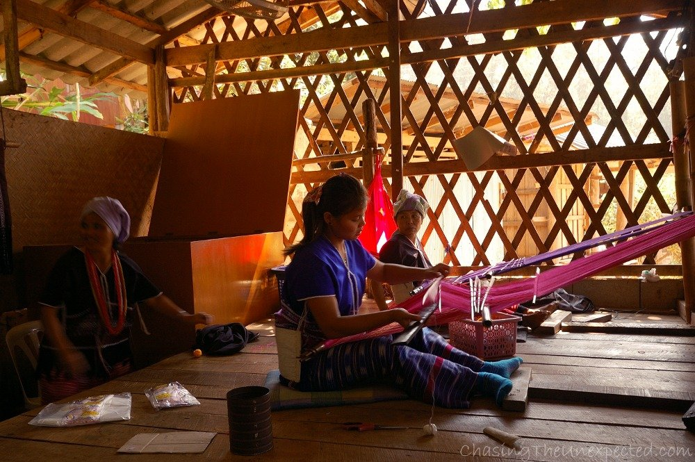 Women weaving at Karen village