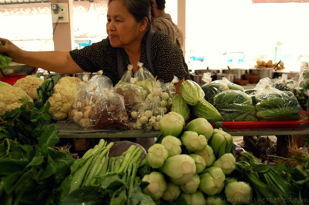 Shopping at the market, delicious Chinese cabbage, bok choy