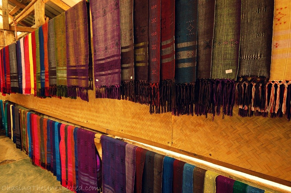 Scarved made by women at Karen village