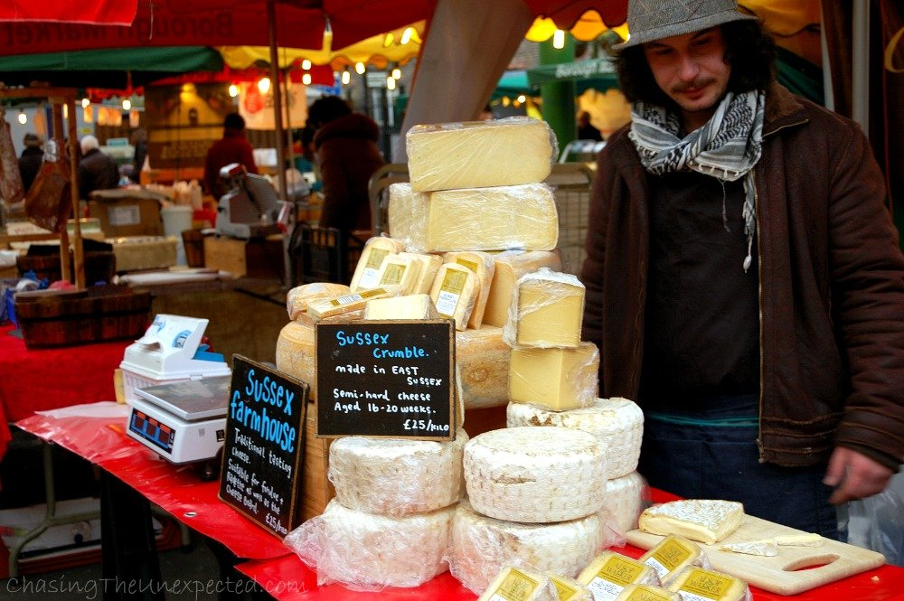 I was literally drooling at the sight of all the cheese stalls