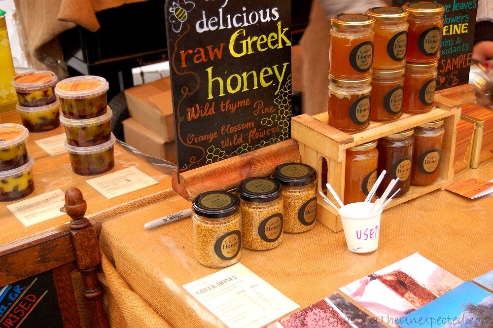 Honey and pollen and all bee products, delicious