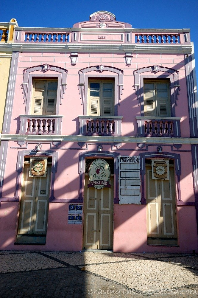 Cute pink building
