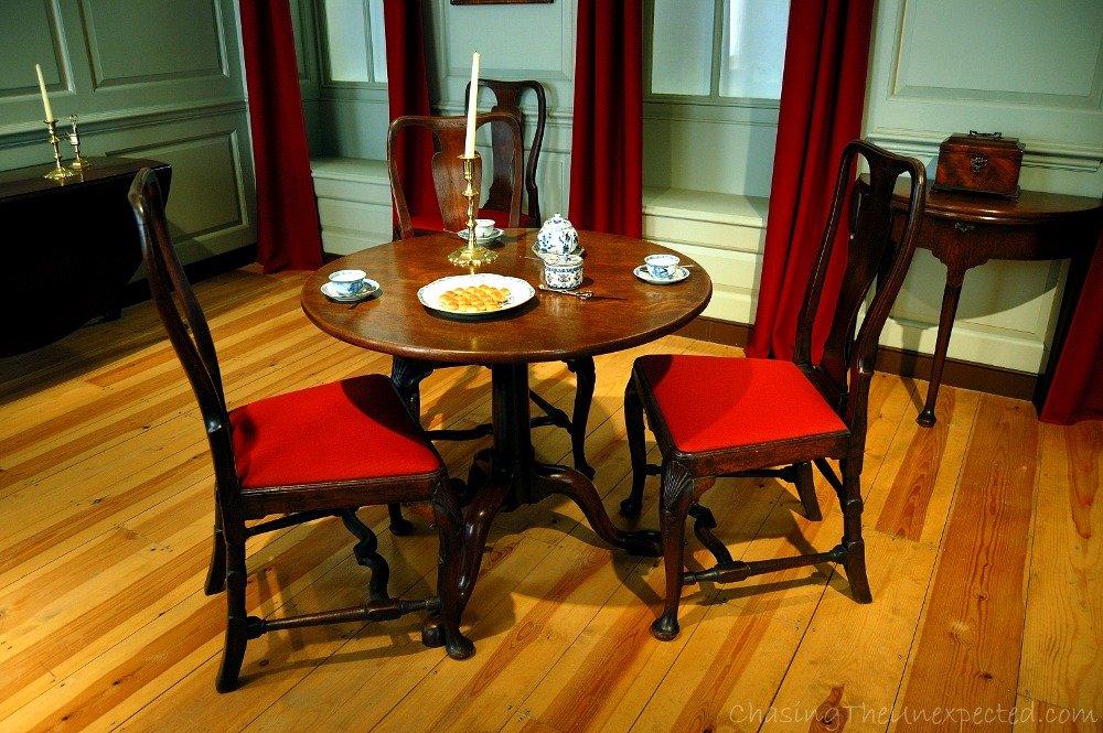Tea served in a 1745 parlour