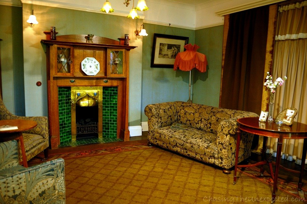 Drawing room, 1910. Comfortably furnished for daily use of a much more informal and private family routine.