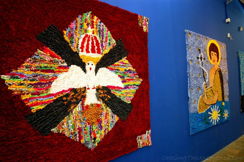 Typical patchwork-style local art