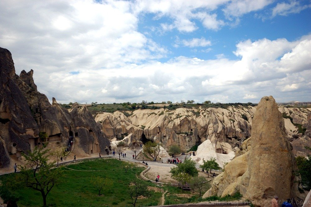 The view entering Goreme open-air museum