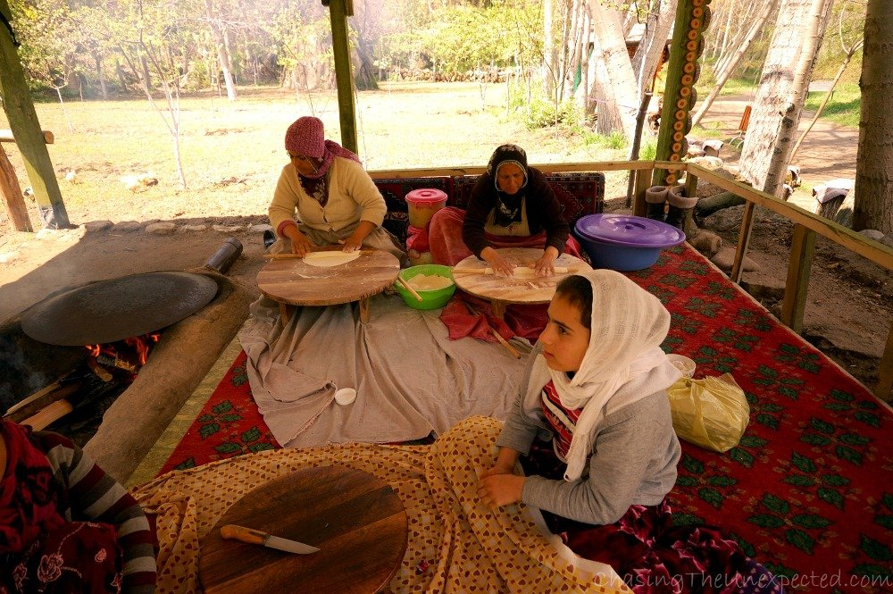 Preparing Gozleme in the middle of the Ilhara Valley