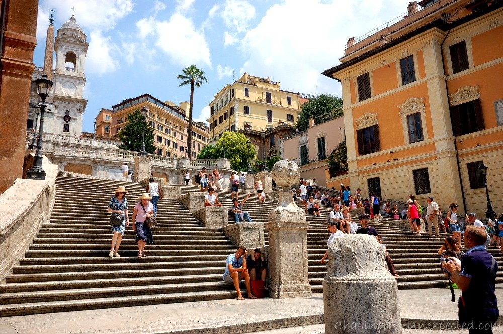 Enjoying the Spanish Steps in Rome