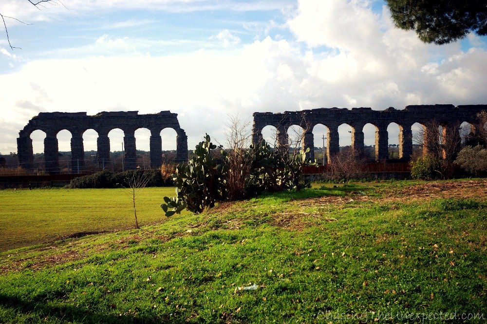 Another view of Claudian Aqueduct park