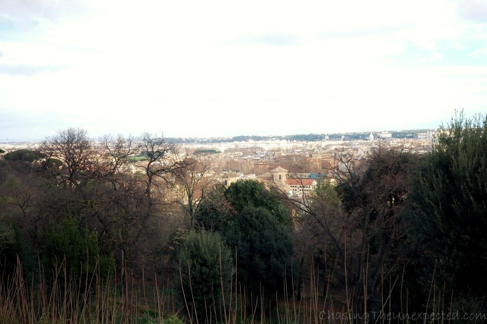 The view from the Janiculum Hill, hazy here, stunning from the top