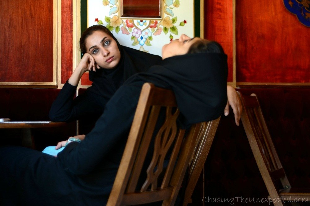 photo essay the people of  girls chatting at firouz cafe in n district jolfa in isfahan
