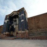 Painfully wounded Tabriz Blue Mosque