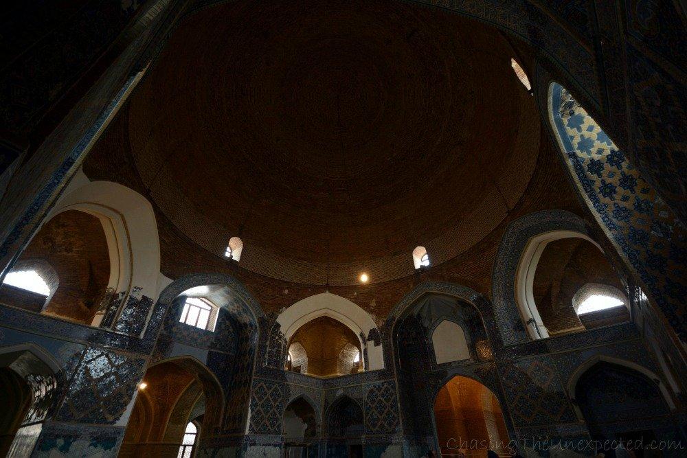 Interior of Tabriz Blue Mosque