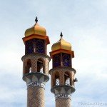 Photo – Minarets of Haji Fakr mosque in Ardabil, Iran