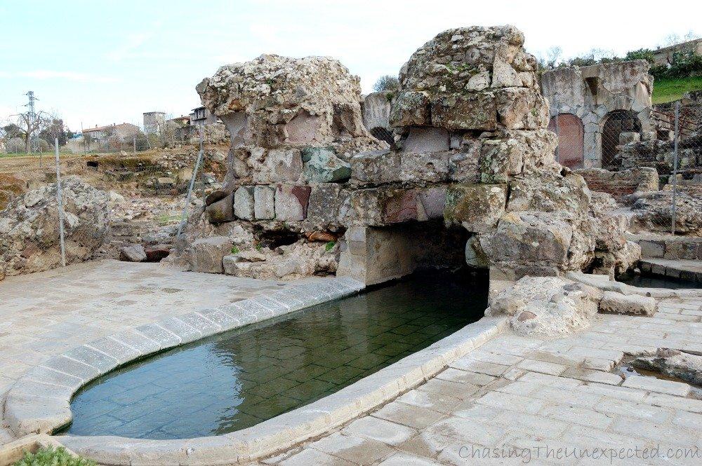 Ruins of Roman thermal baths in Fordongianus