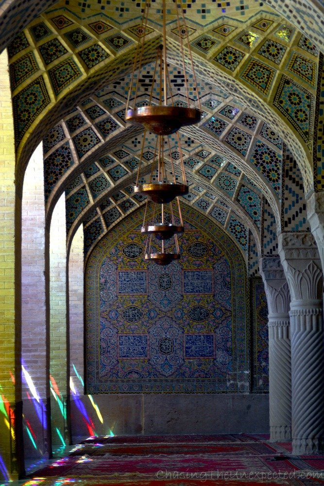Sophisticated decorations inside Nasir al-Mulk mosque