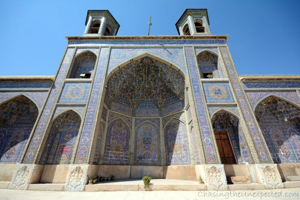More from outside Nasir al-Mulk mosque in Shiraz