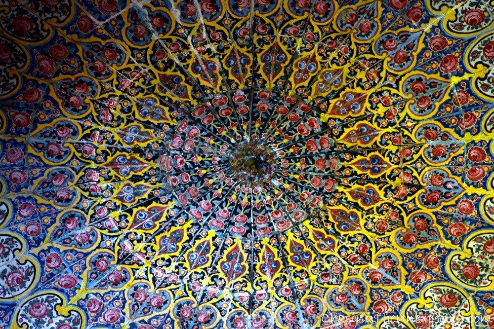 Beautiful ceiling of Nasir al-Mulk mosque