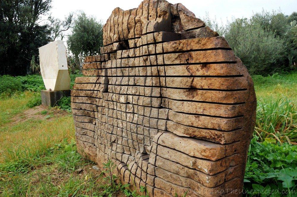 Pino Sciola's sounding stones in his open-air museum in San Sperate